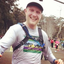 This is me high 5-ing at the finish!