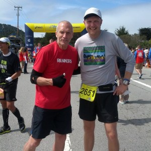 Yours truly with Bart Yasso, CRO from Runner's World Magazine.