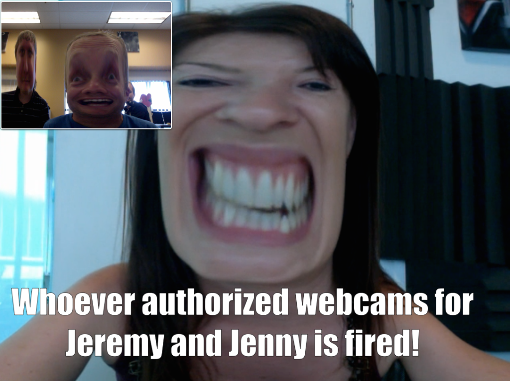 The authors of this post are notorious for getting no work done when webcams are present.