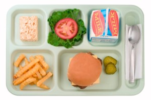 School Food - Cheeseburger